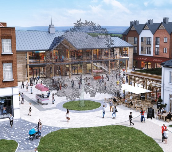 A CGI showing the design of the new town square. It will be made from materials originating from Farnham. A CGI showing the design of the new town square. It will be made from materials originating from Farnham.
